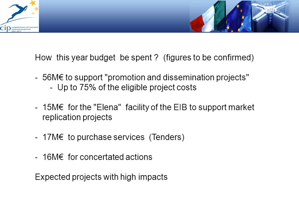 How this year budget be spent ? (figures to be confirmed) -56M to support