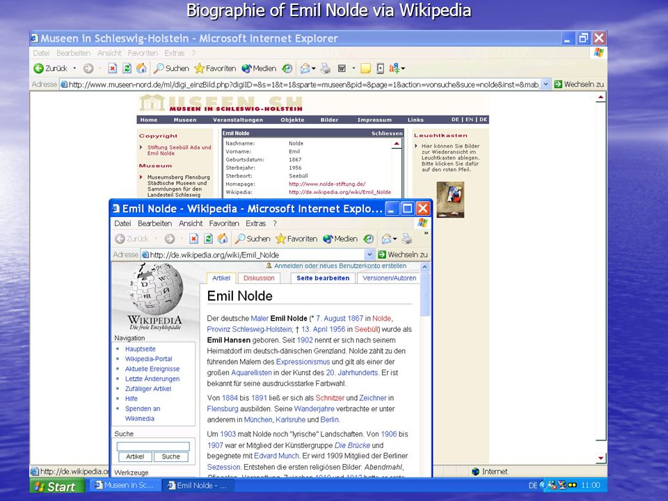 Biographie of Emil Nolde via Wikipedia