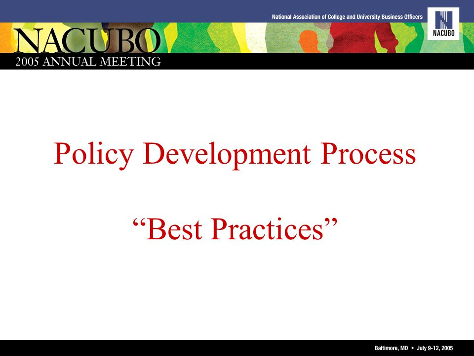 Policy Development Process Best Practices