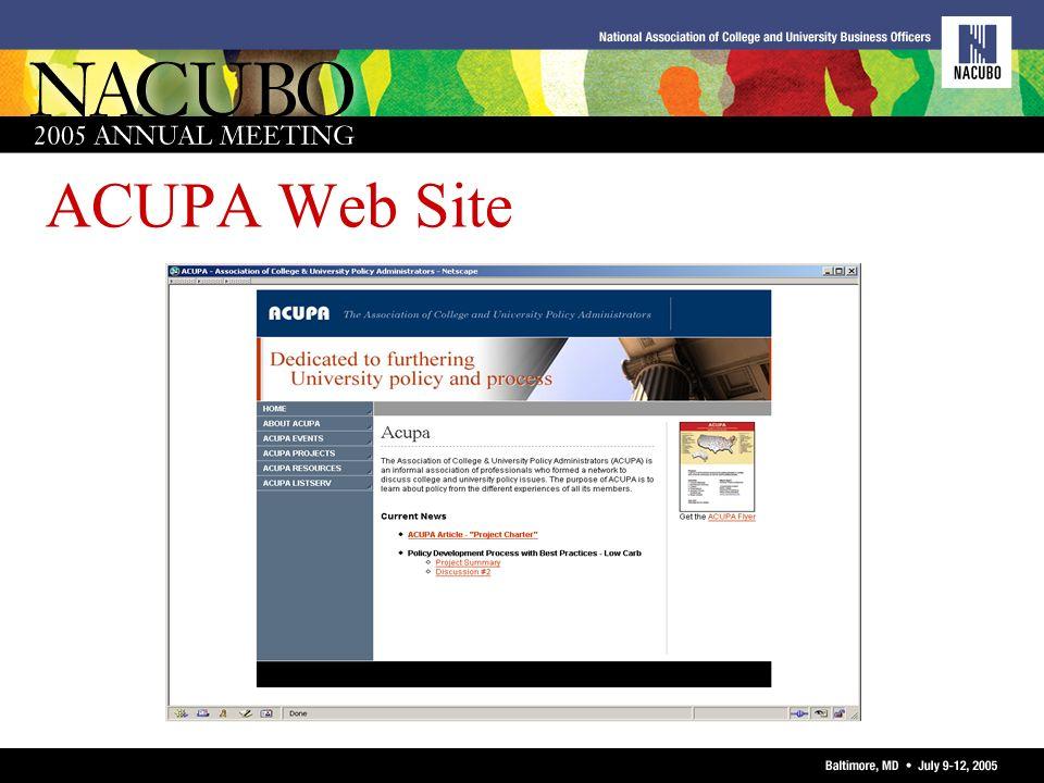 ACUPA Web Site