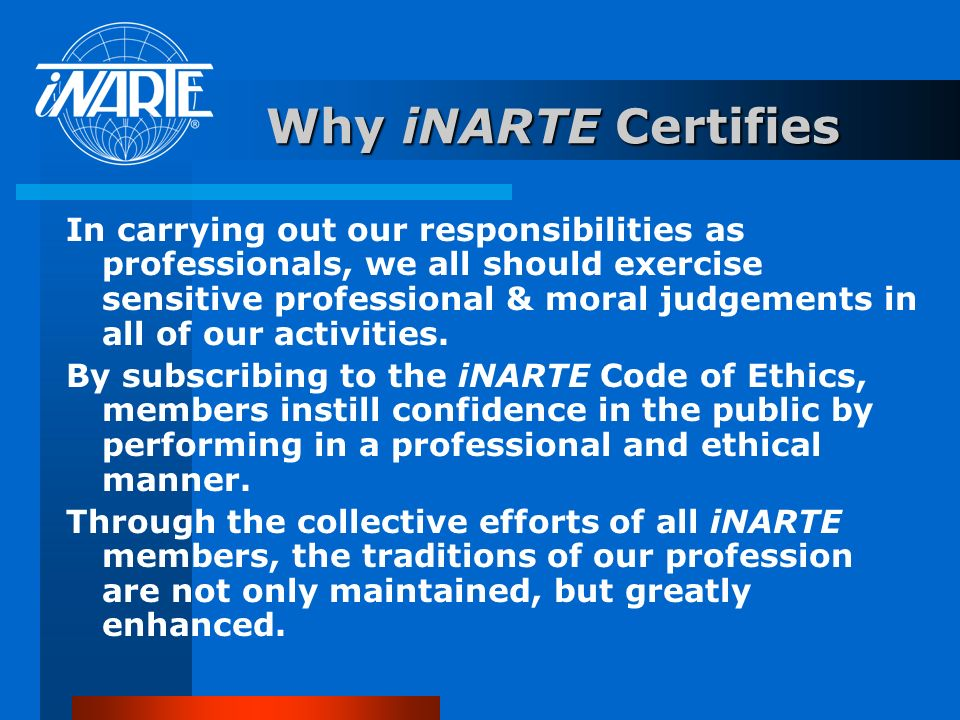 Other iNARTE Programs FCC Testing iNARTE is authorized by the Federal Communications Commission to administer FCC Commercial License Examinations. The