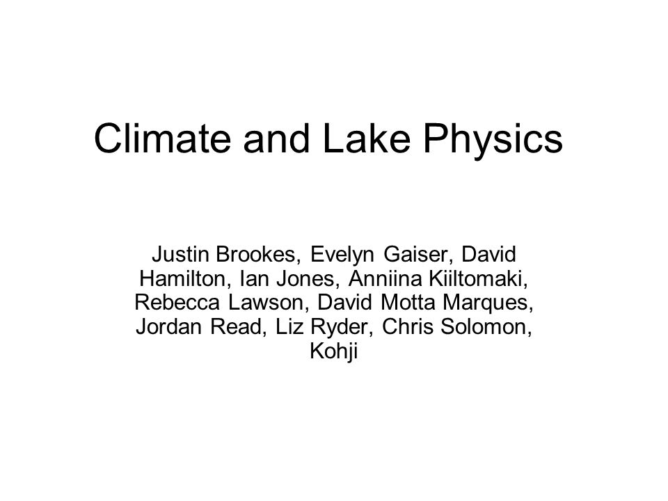 Progress since last meeting Lake Analyzer program made available on the web A few lakes were run through the program Initial explorations of sensitivity analyses Some updates to Lake Analyzer that help cross- lake comparisons Eleanor Jennings has draft of episodic events manuscript that includes several GLEON lake mixing examples – sets stage for moving forward with comparative analysis