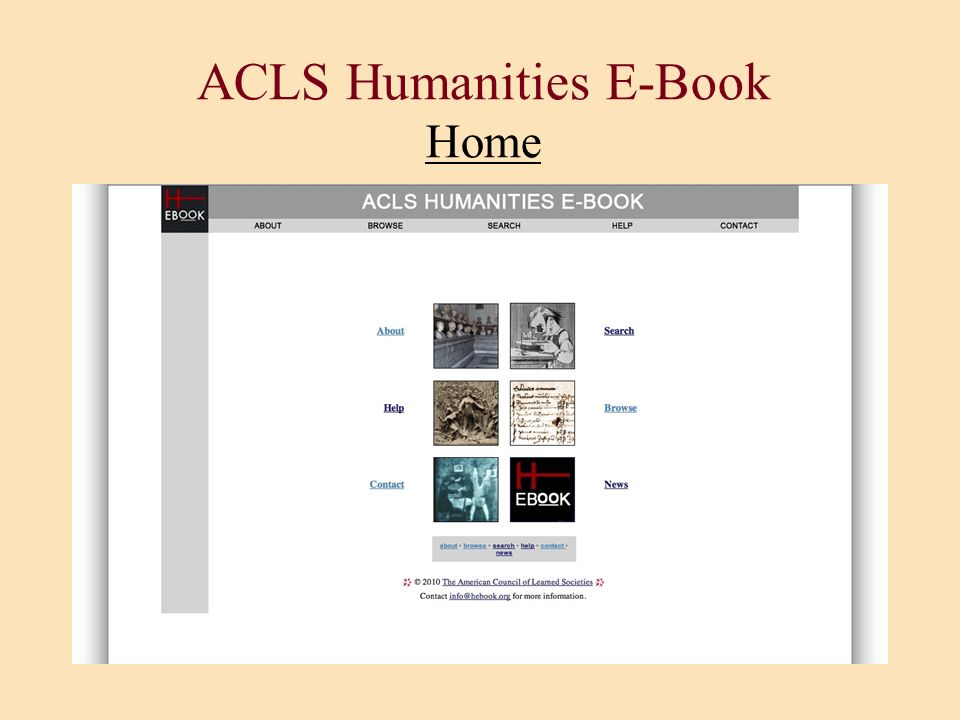 ACLS Humanities E-Book Home