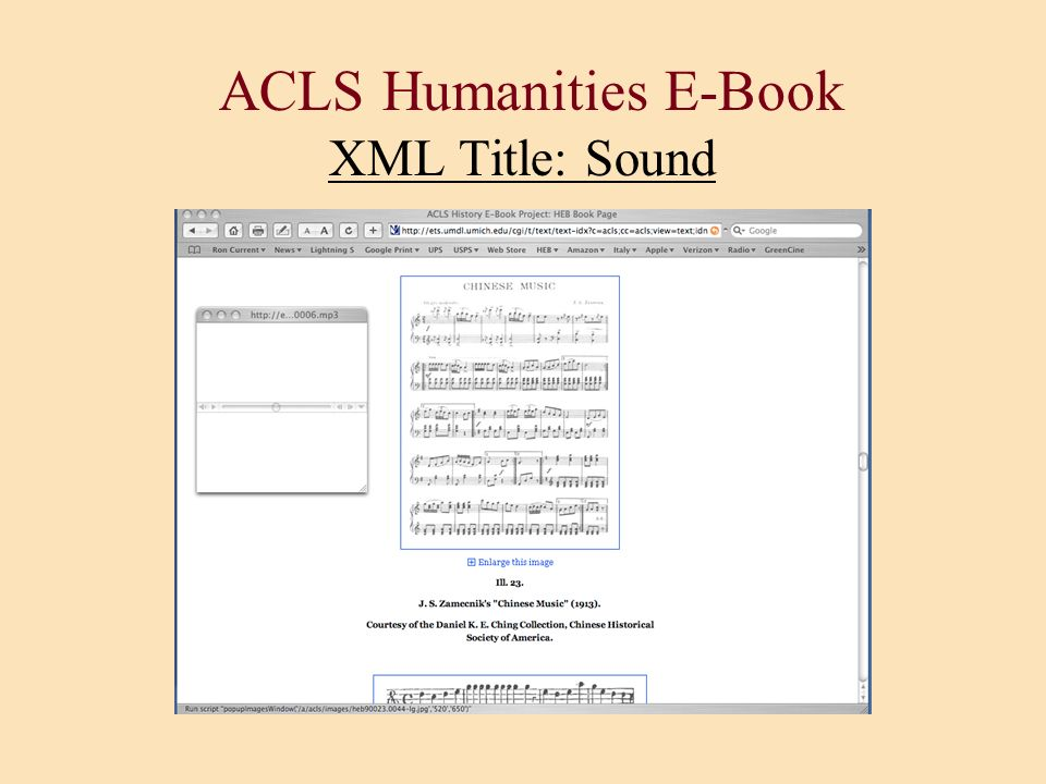 ACLS Humanities E-Book XML Title: Sound