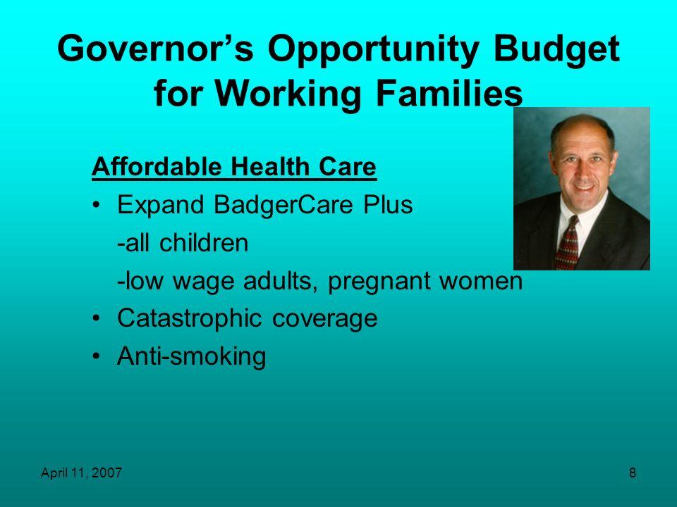 April 11, 200718 Senator Herb Kohls Health Care Agenda JoAnne Anton State Director Senator Kohls Office
