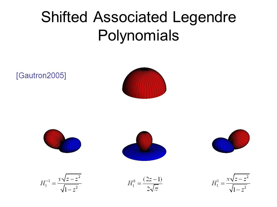 Shifted Associated Legendre Polynomials [Gautron2005]