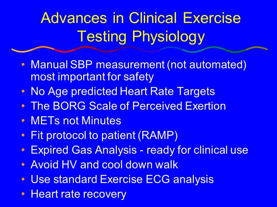 Key MET Values (part 1) 1 MET = Basal = 3.5 ml O2 /Kg/min 2 METs = 2 mph on level 4 METs = 4 mph on level < 5METs = Poor prognosis if < 65; limit immediate post MI; cost of basic activities of daily living