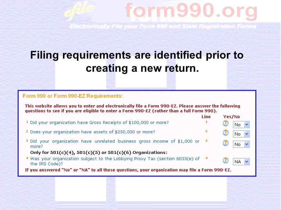 Sample of 990-EZ, Part II, Balance Sheets Section