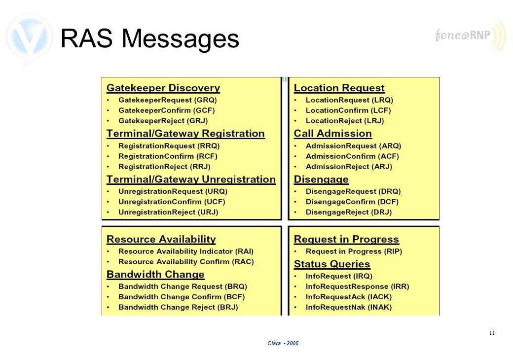 Clara - 2005 11 RAS Messages