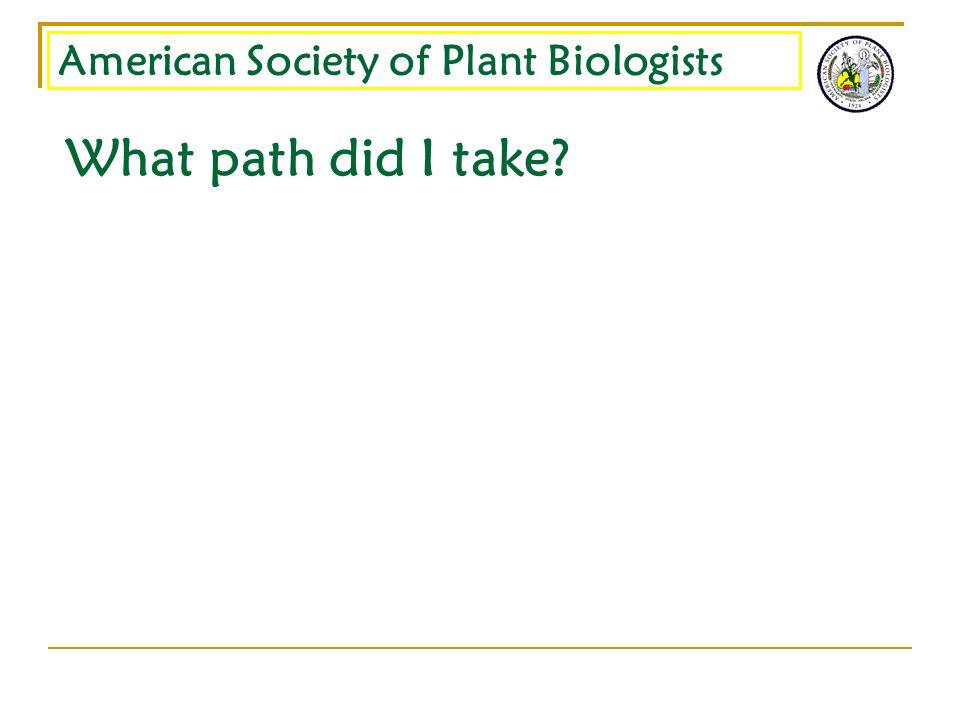 What path did I take?
