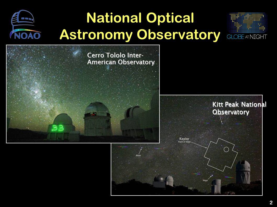 2 National Optical Astronomy Observatory Kitt Peak National Observatory Cerro Tololo Inter- American Observatory