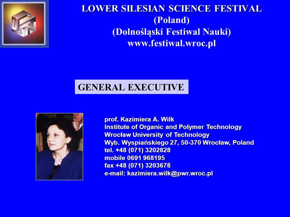 prof. Kazimiera A. Wilk Institute of Organic and Polymer Technology Wrocław University of Technology Wyb. Wyspiańskiego 27, 50-370 Wrocław, Poland tel