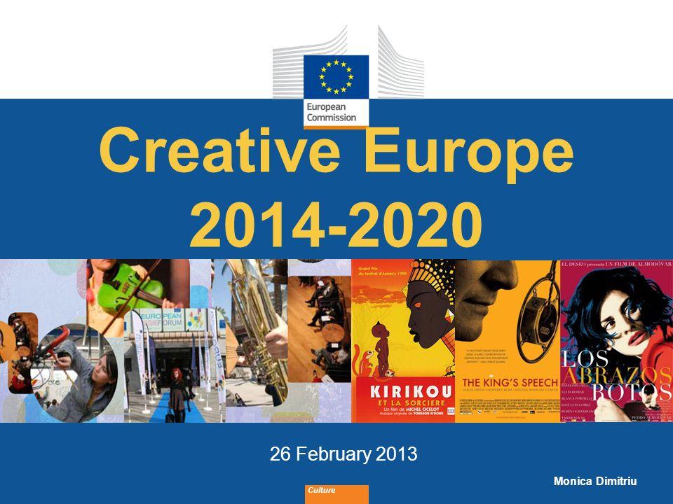 Date: in 12 pts Culture Creative Europe framework Culture aprox.