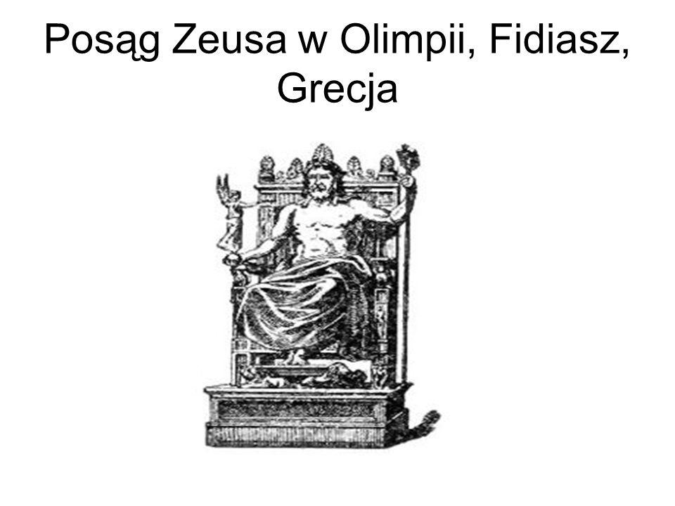 Posąg Zeusa w Olimpii, Fidiasz, Grecja