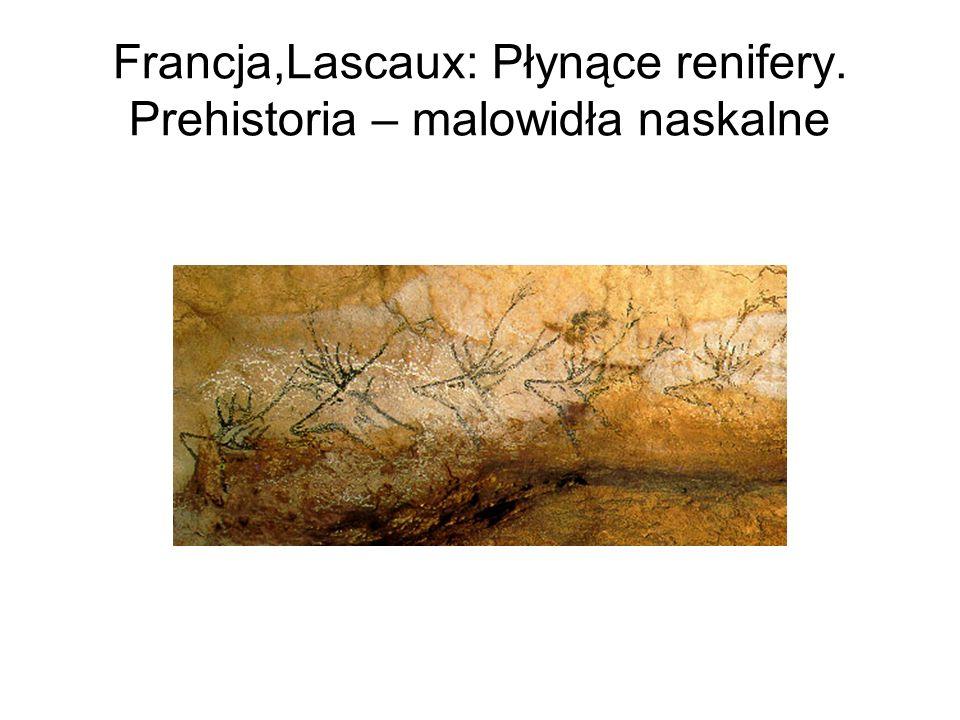 Francja,Lascaux: Płynące renifery. Prehistoria – malowidła naskalne