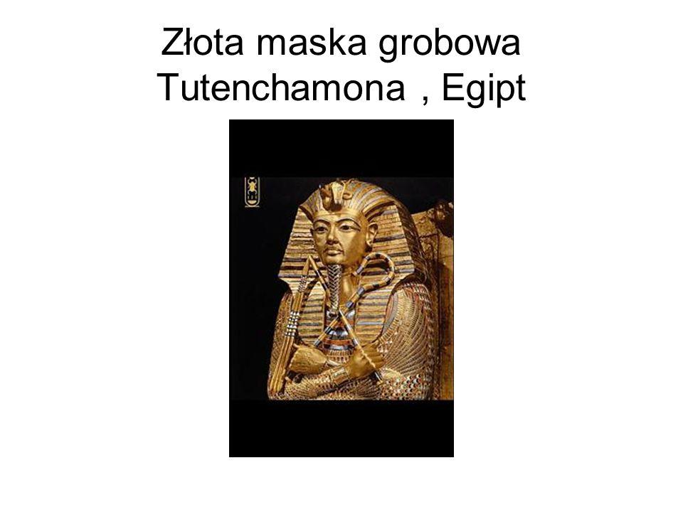 Złota maska grobowa Tutenchamona, Egipt