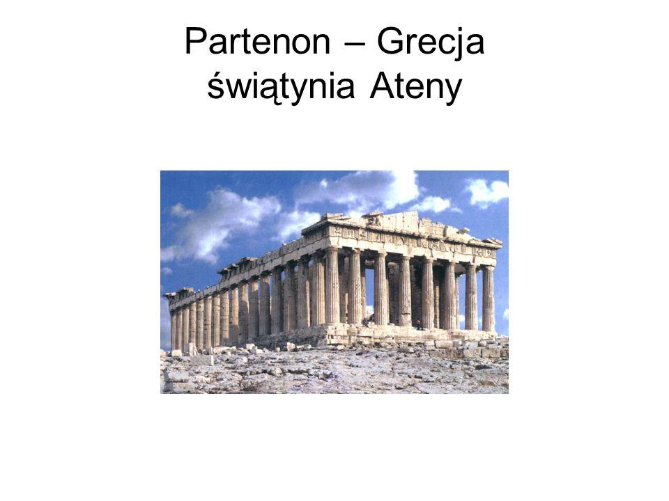 Partenon – Grecja świątynia Ateny