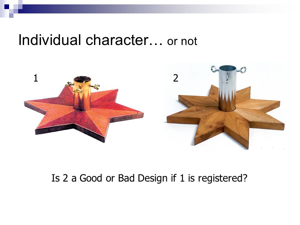 Individual character… or not Is 2 a Good or Bad Design if 1 is registered 12