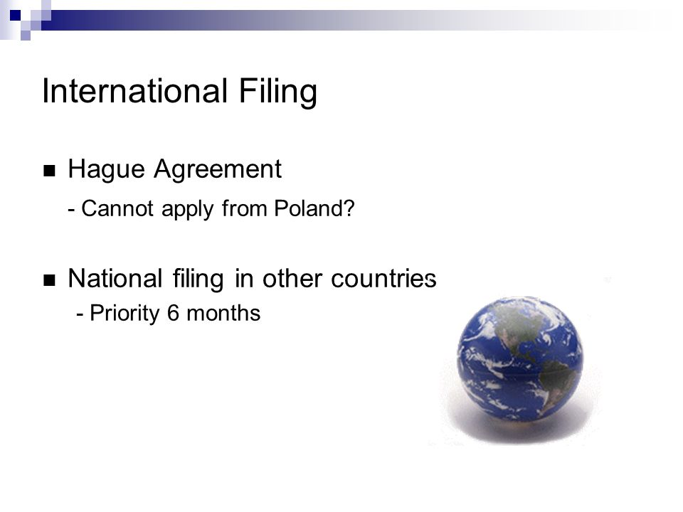 International Filing Hague Agreement - Cannot apply from Poland.