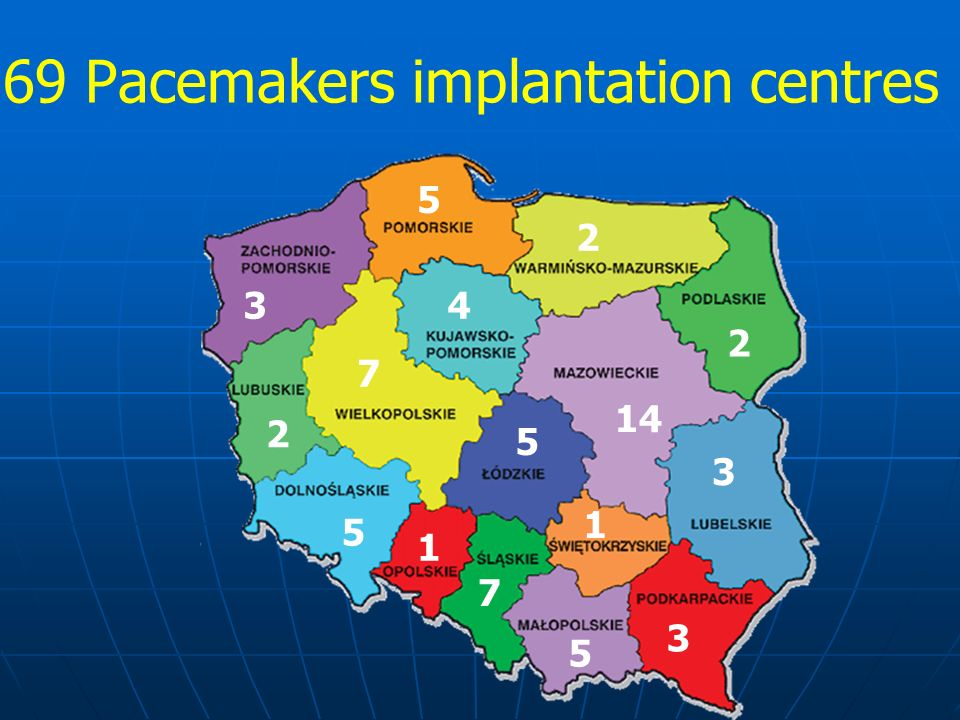 69 Pacemakers implantation centres