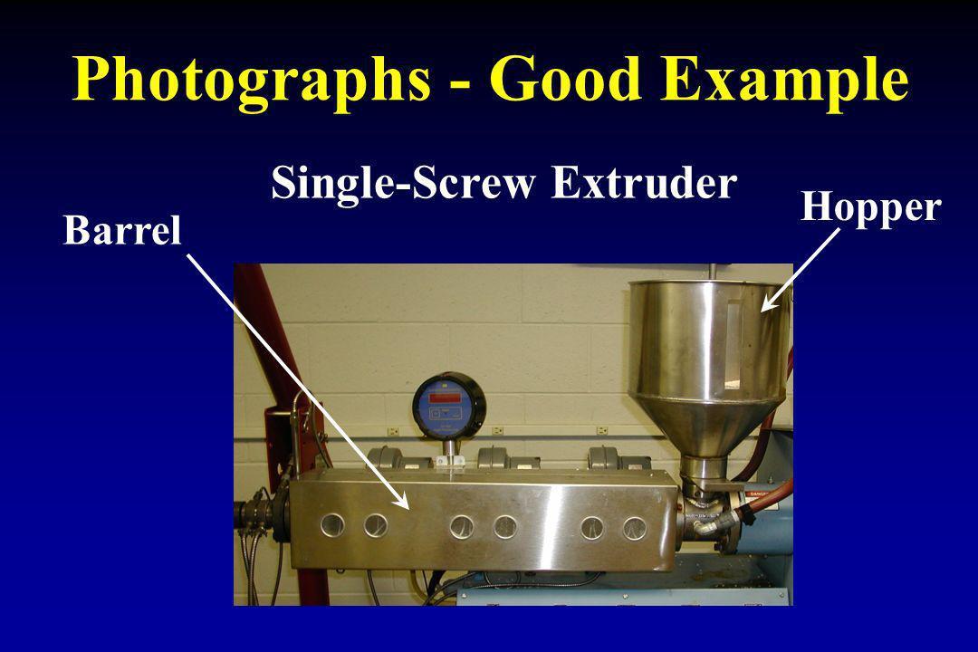 Photographs - Good Example Hopper Barrel Single-Screw Extruder