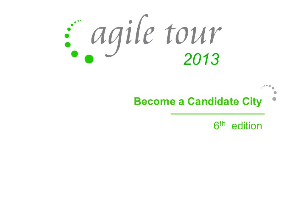 Become a Candidate City 6 th edition