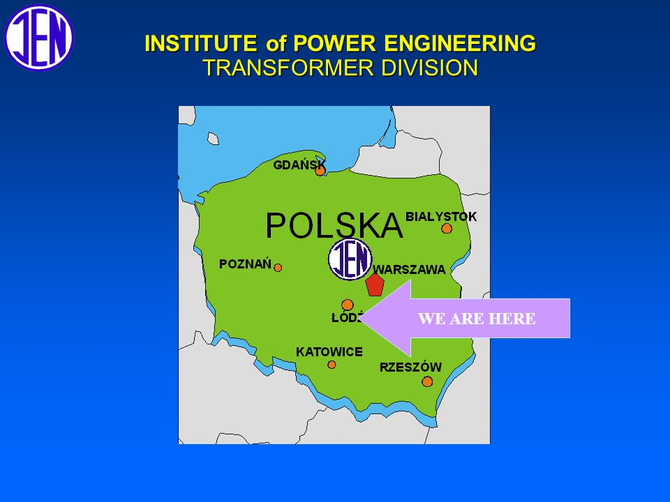 INSTITUTE of POWER ENGINEERING,Transformer Division PD on site measurements