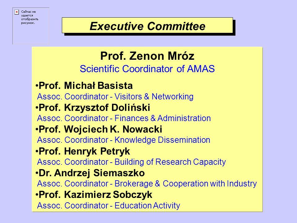 Executive Committee Prof. Zenon Mróz Scientific Coordinator of AMAS Prof.
