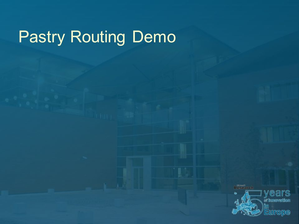 Pastry Routing Demo
