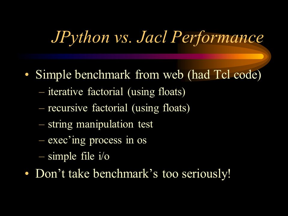 JPython vs.