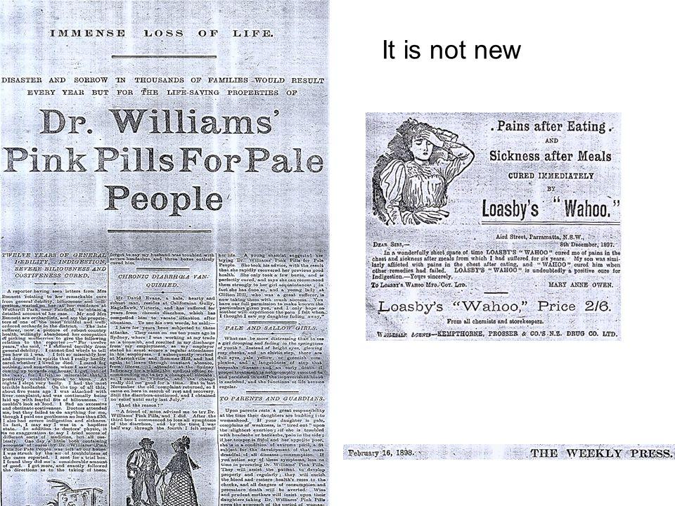 It is not new