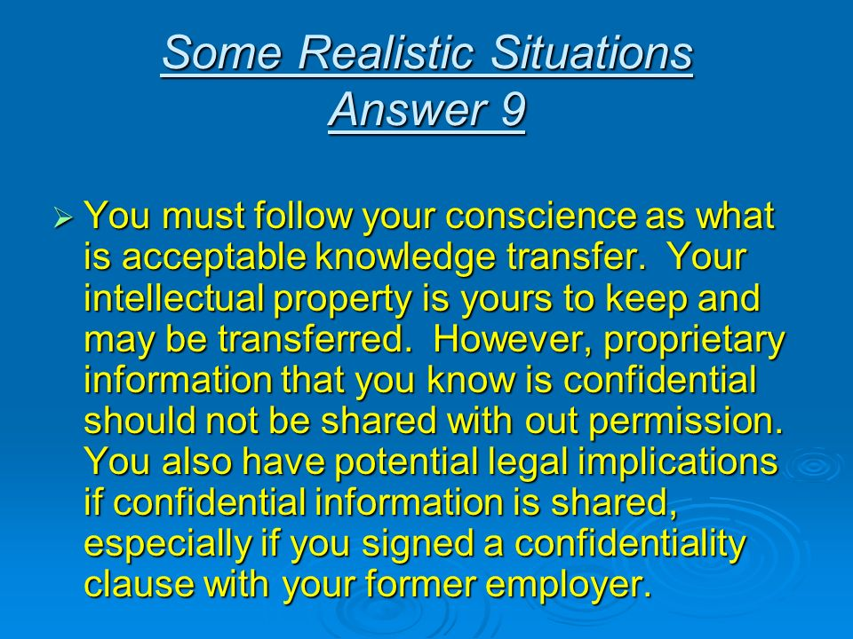 You must follow your conscience as what is acceptable knowledge transfer. Your intellectual property is yours to keep and may be transferred. However,