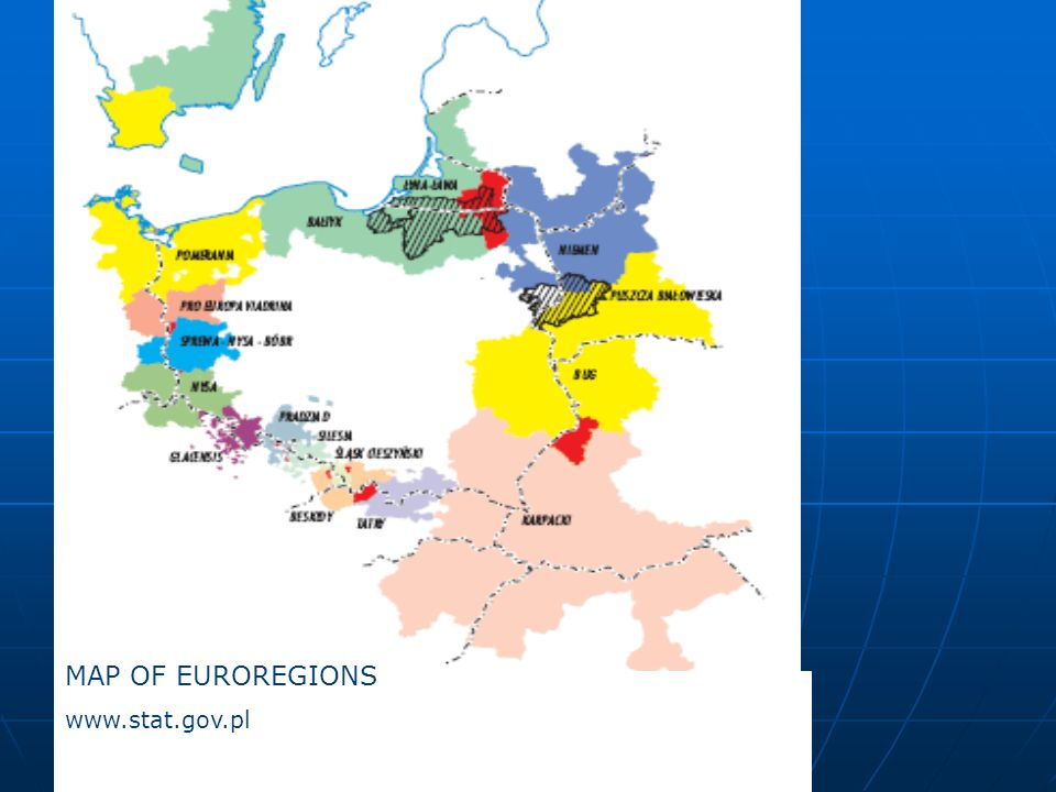 MAP OF EUROREGIONS