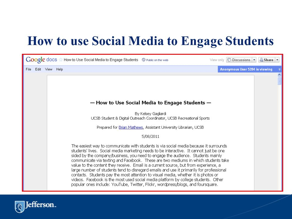 How to use Social Media to Engage Students