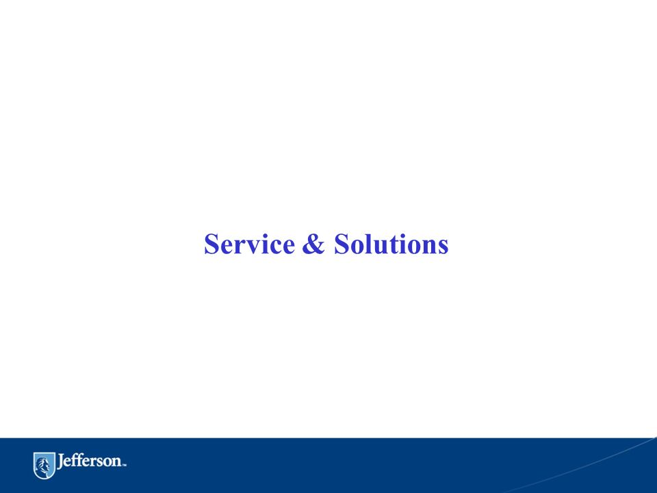 Service & Solutions