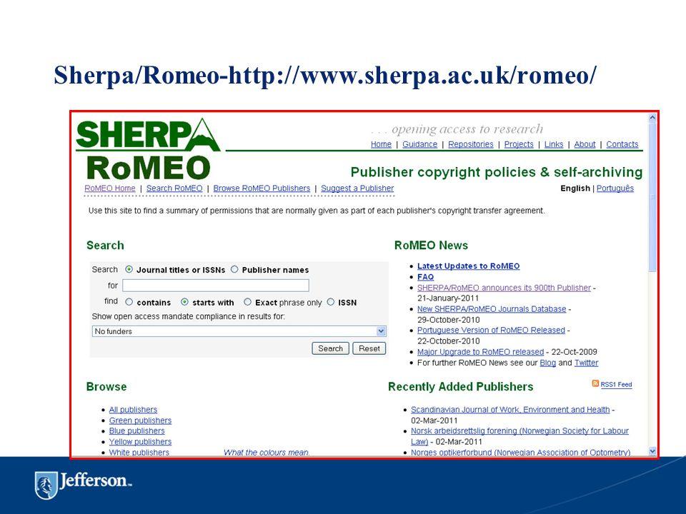 Sherpa/Romeo-http://www.sherpa.ac.uk/romeo/