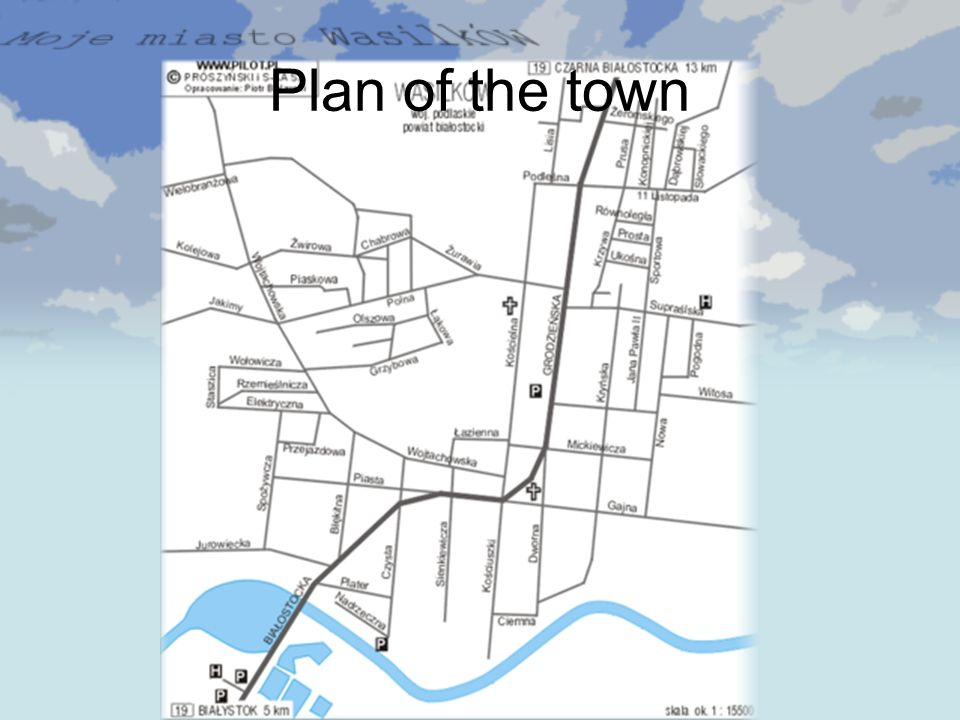 Plan of the town