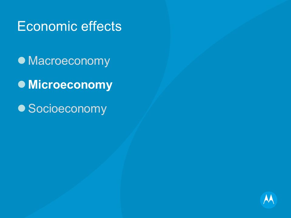 Economic effects Macroeconomy Microeconomy Socioeconomy
