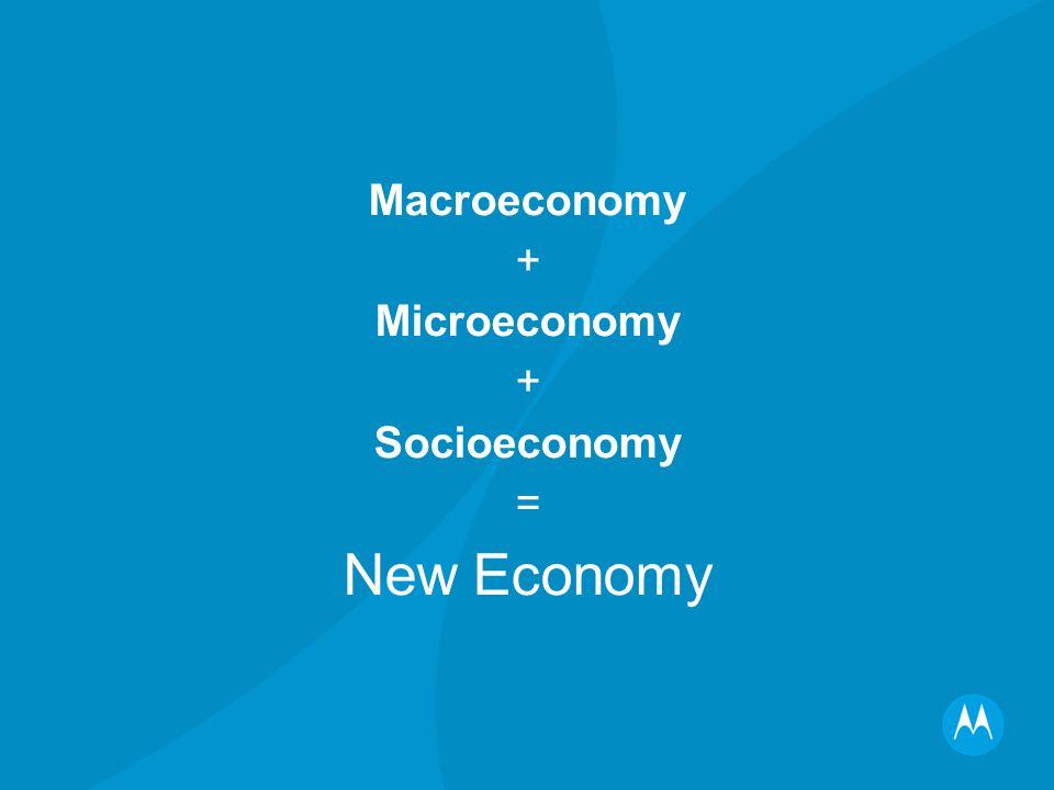 Macroeconomy + Microeconomy + Socioeconomy = New Economy