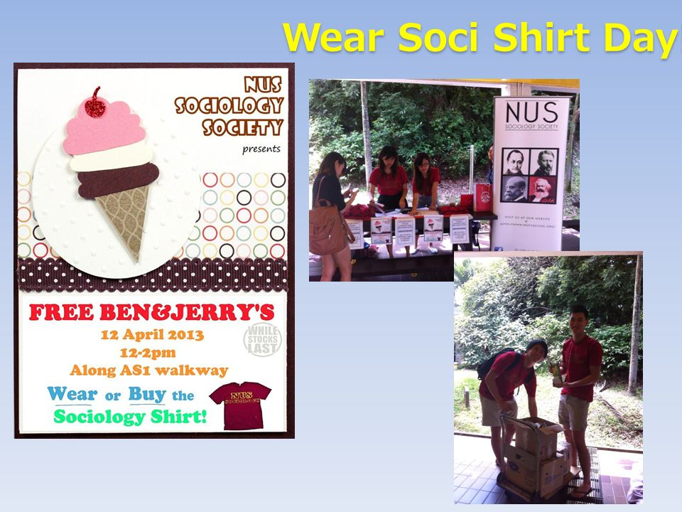 Wear Soci Shirt Day! Wear Soci Shirt Day!