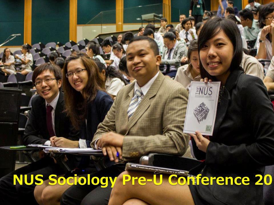 NUS Sociology Pre-U Conference 2013