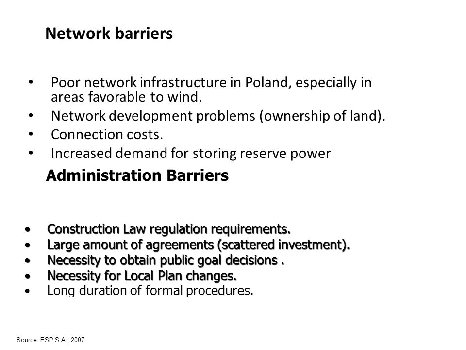 Administration Barriers Construction Law regulation requirements.Construction Law regulation requirements.