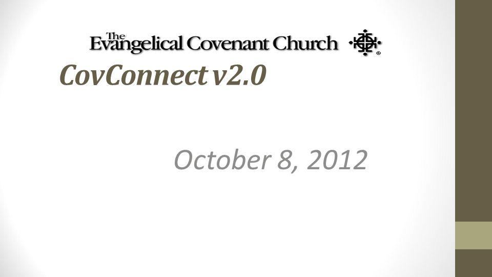 CovConnect v2.0 October 8, 2012