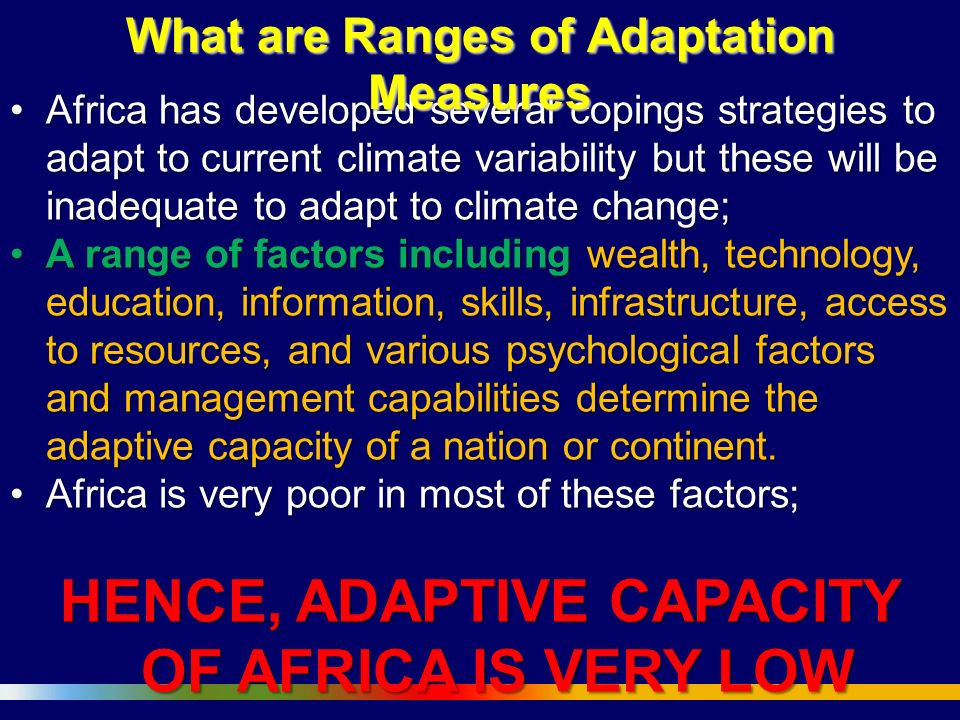 Adaptation to Climate Change Impacts