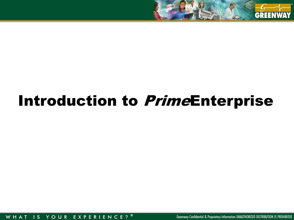 Introduction to PrimeEnterprise