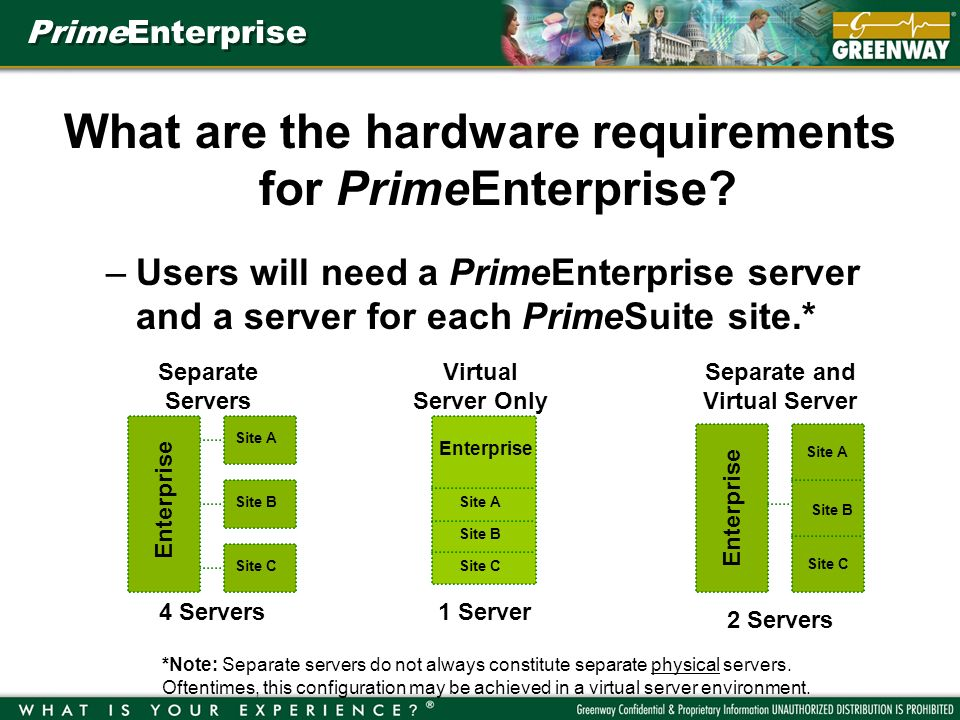 PrimeEnterprise What are the hardware requirements for PrimeEnterprise.