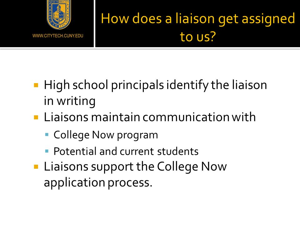 How does a liaison get assigned to us.