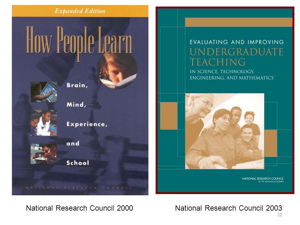 10 National Research Council 2000 National Research Council 2003