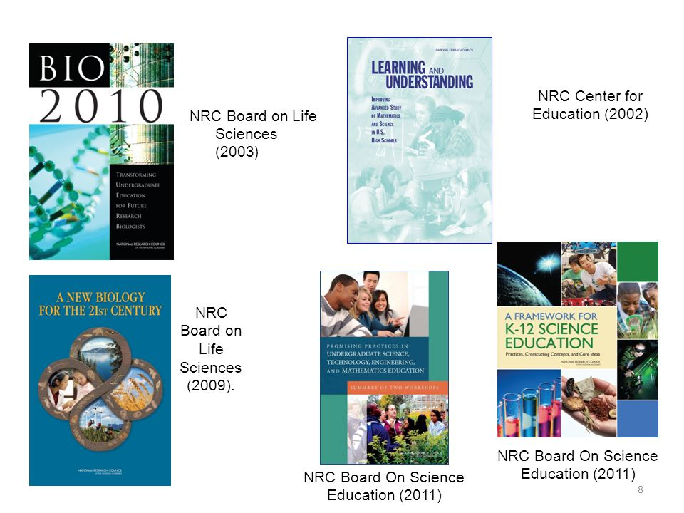 9 American Association for the Advancement of Science & National Science Foundation (2011) Association of American Medical Colleges & Howard Hughes Medical Institute (2009) College Board (2011)