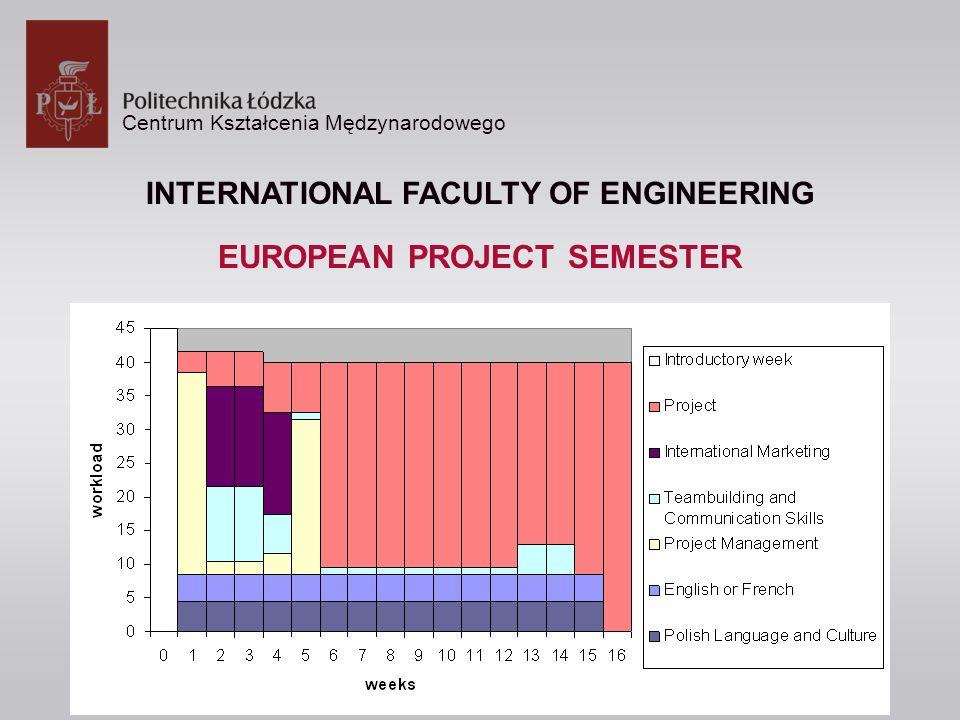 Centrum Kształcenia Mędzynarodowego INTERNATIONAL FACULTY OF ENGINEERING EUROPEAN PROJECT SEMESTER